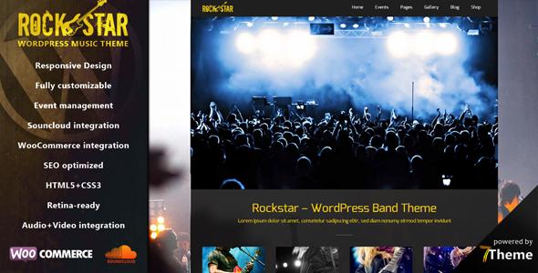 Rockstar - Responsive Music & Band Theme