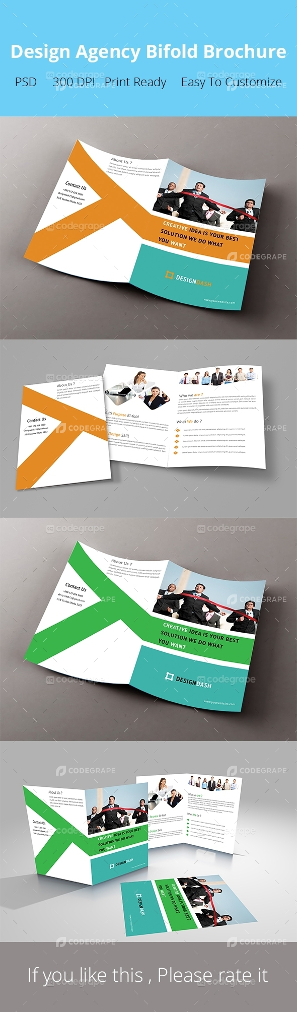 Design Agency Bifold Brochure
