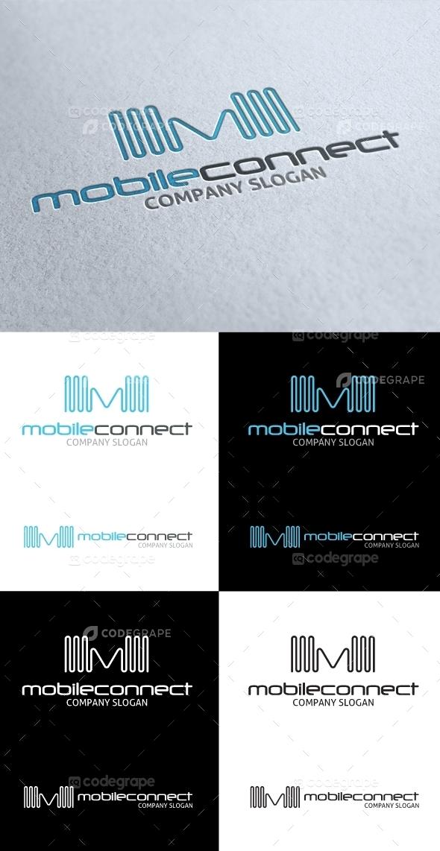 Mobile Connect M Letter Logo