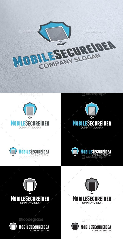 Mobile Secure Idea Logo