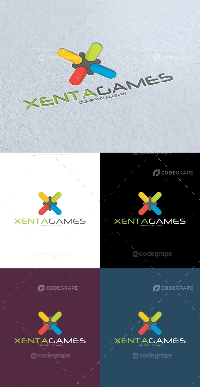 Xenta Games X Letter Logo