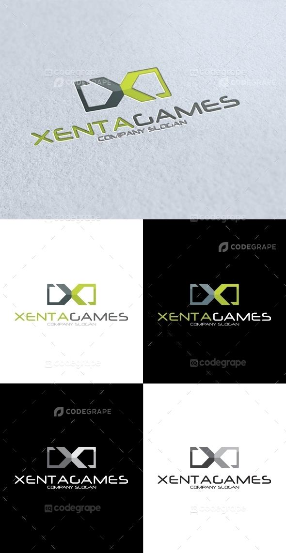 Xenta Games X Letter V2 Logo