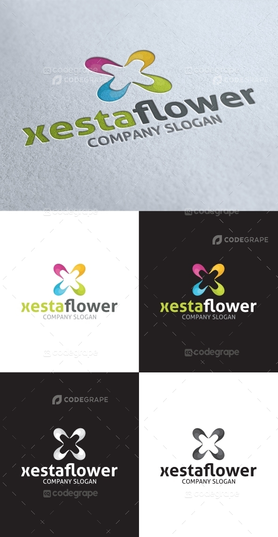Xesta Flower X Letter Logo