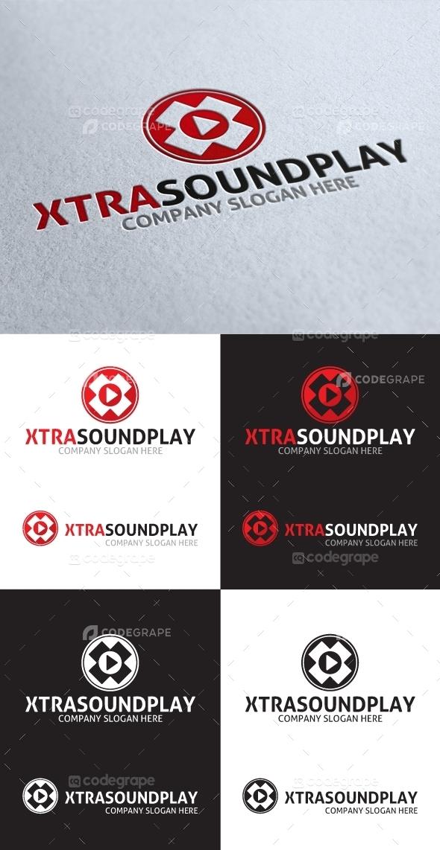 Xtra Sound Player X Letter Logo