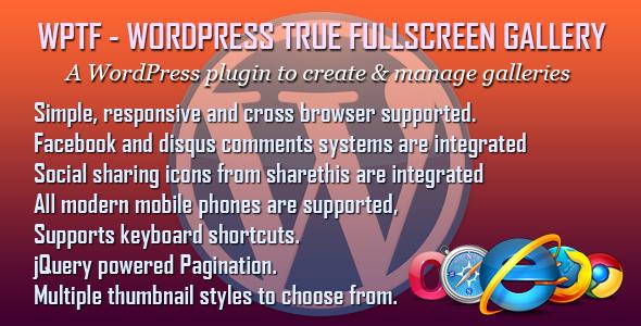 WPTF - WordPress True Fullscreen Gallery