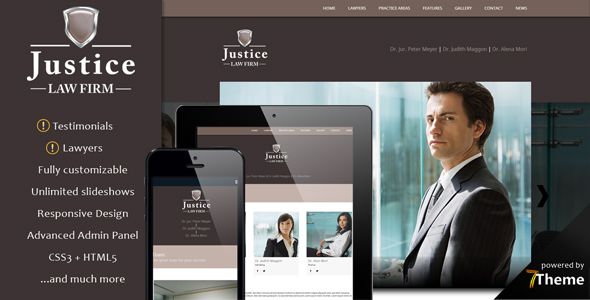 Justice - Lawyer & Law Office WordPress Theme