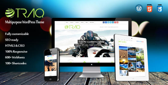 Traq - Multipurpose Business WordPress Theme