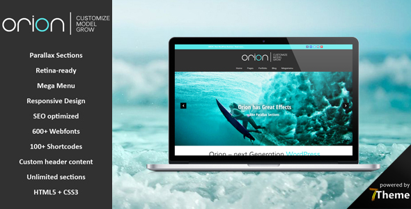 Orion - Multipurpose Parallax WordPress Theme