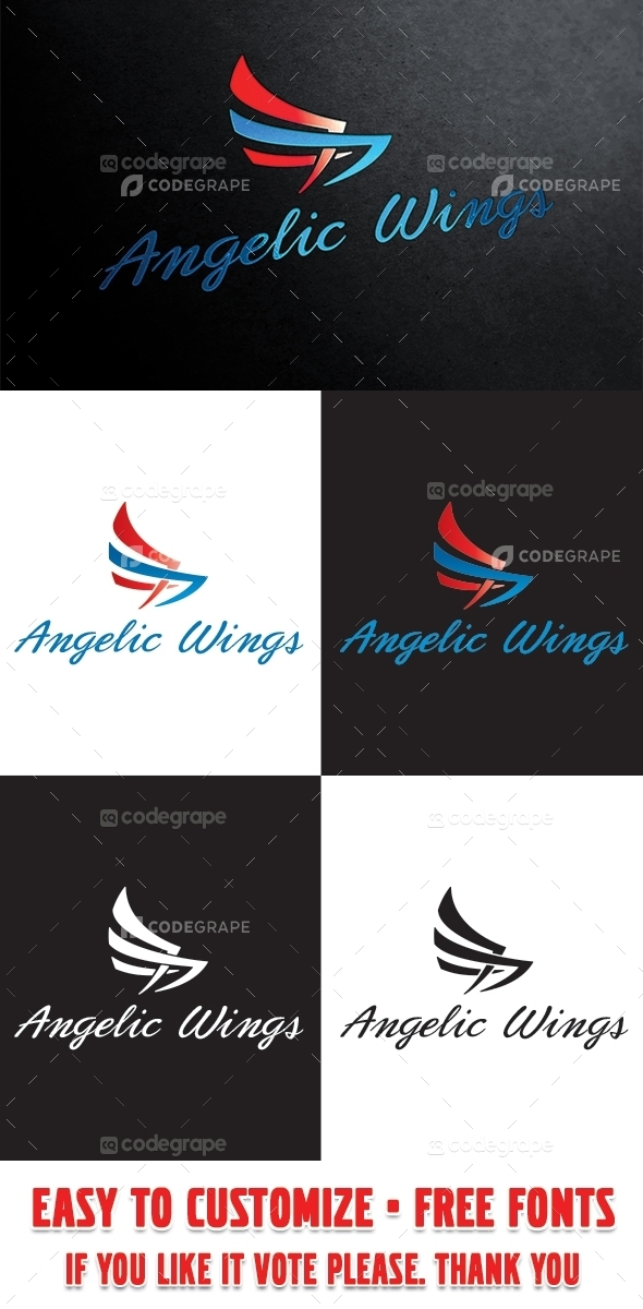Angelic Wings Logo Template