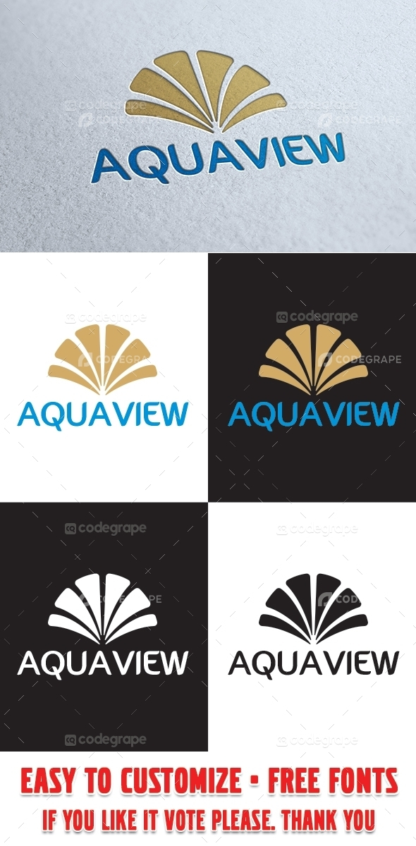 Aqua View Logo Template
