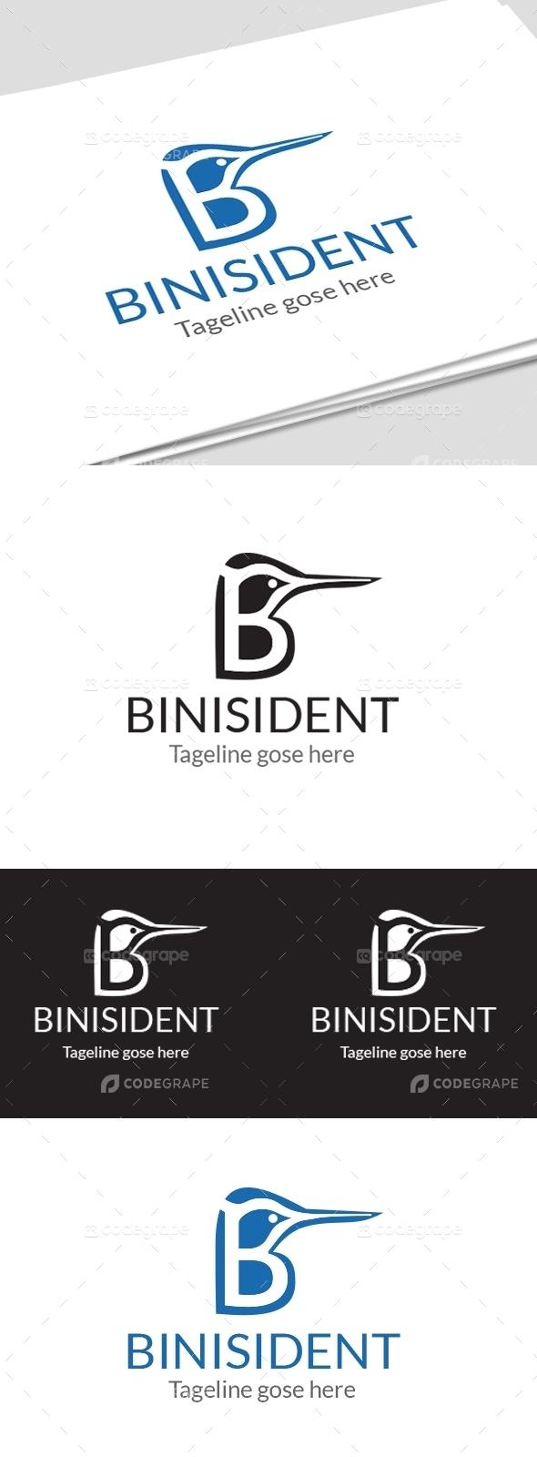 Binisident B letter logo