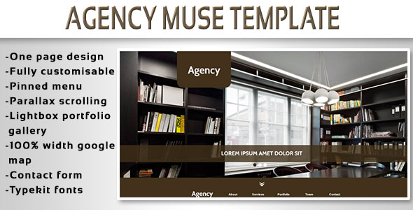 Agency - One Page Muse Template