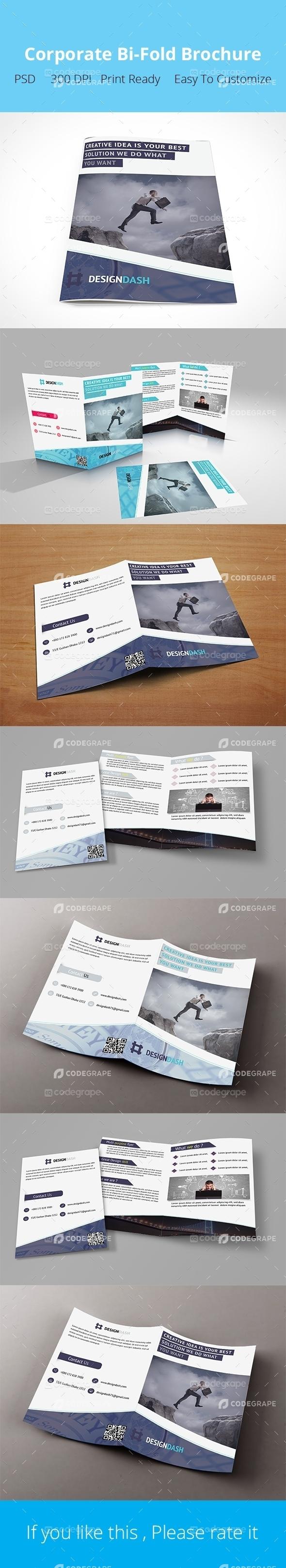 Design Agency Bi-Fold Brochure