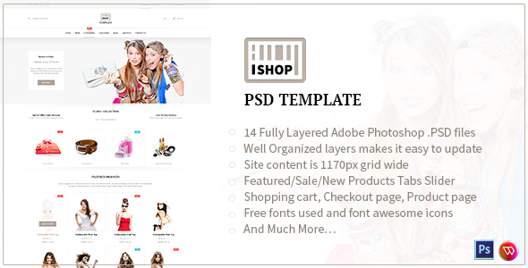 ISHOP - Responsive Shopify PSD Template