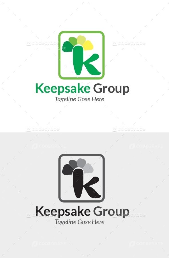 Keepsake K Letter Logo