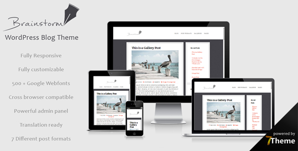 Brainstorm - Responsive WordPress Blog Theme