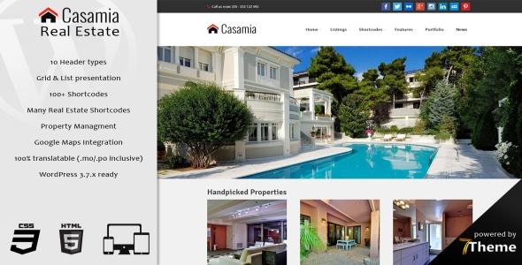 Casamia - Real Estate WordPress Theme