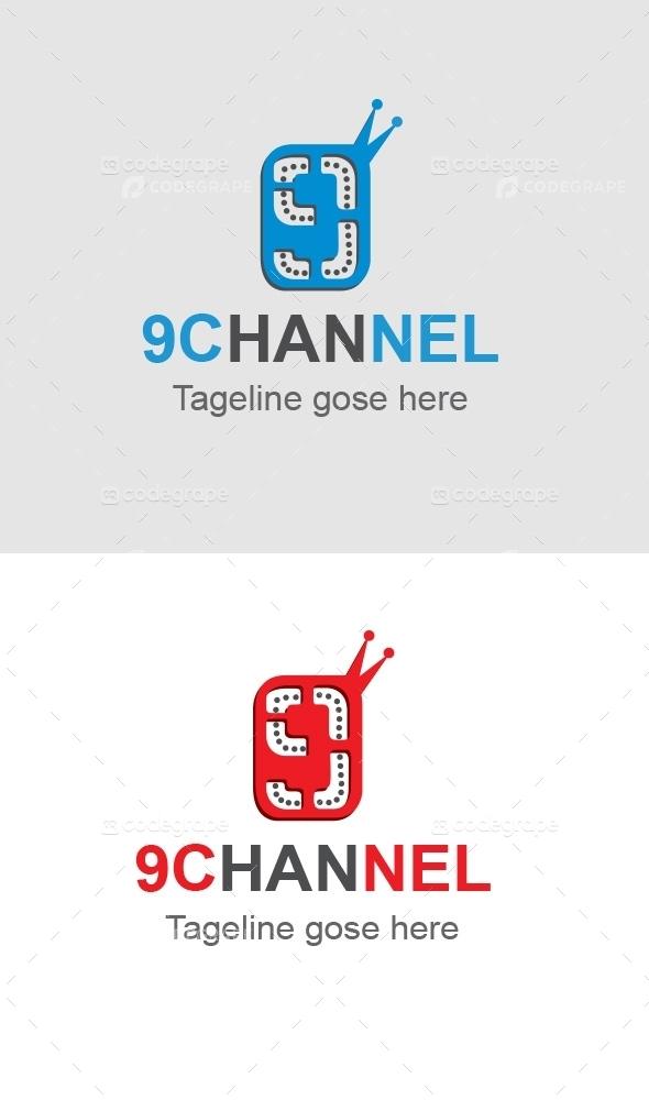 9Channel 9 Number Logo