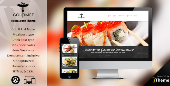 Gourmet - Responsive Restaurant WordPress Theme