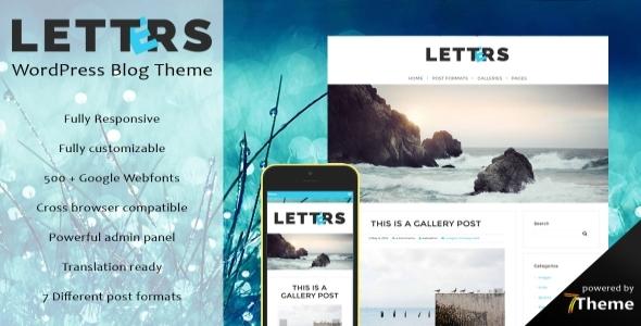 Letters - Responsive WordPress Blog Theme