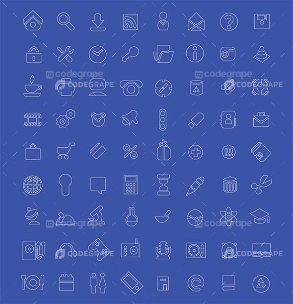 72 Vector Icons