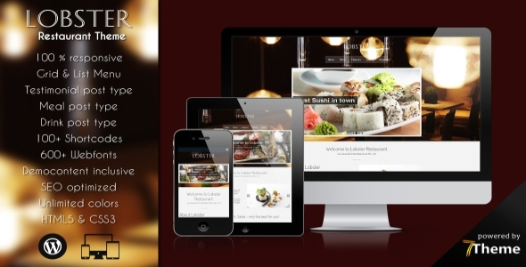 Lobster - Responsive Restaurant WordPress Theme