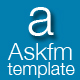 AskFM Template For Q2APHP PRO