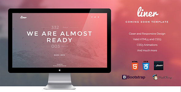 Liner - Clean Responsive Coming Soon Template