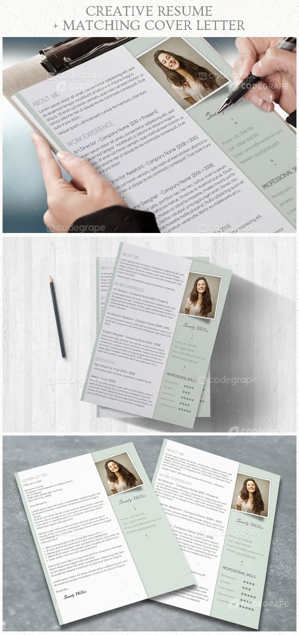 Pastel Resume With Matching Cover Letter