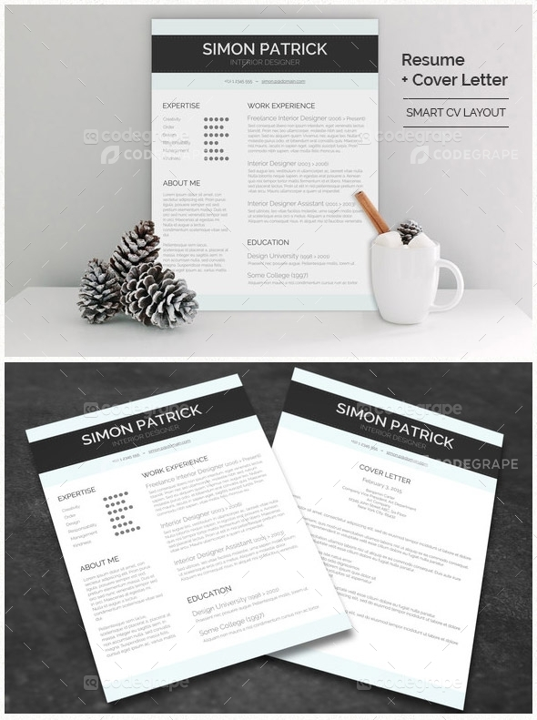 Smart CV Layout + Cover Letter