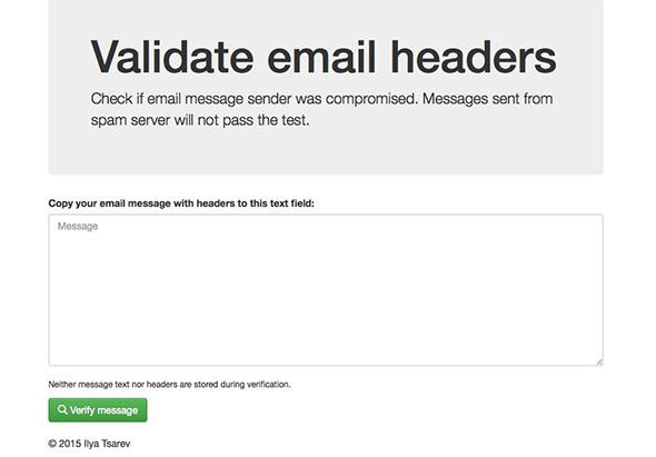 Email Headers Verification