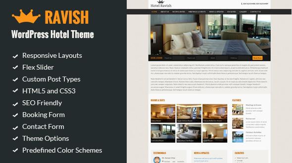 Ravish - Responsive WordPress Hotel Theme