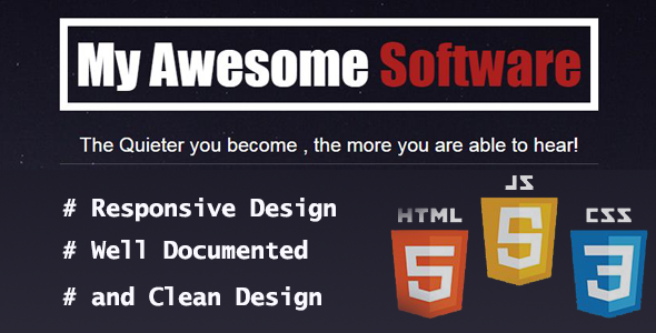 My Software - Landing Page Template