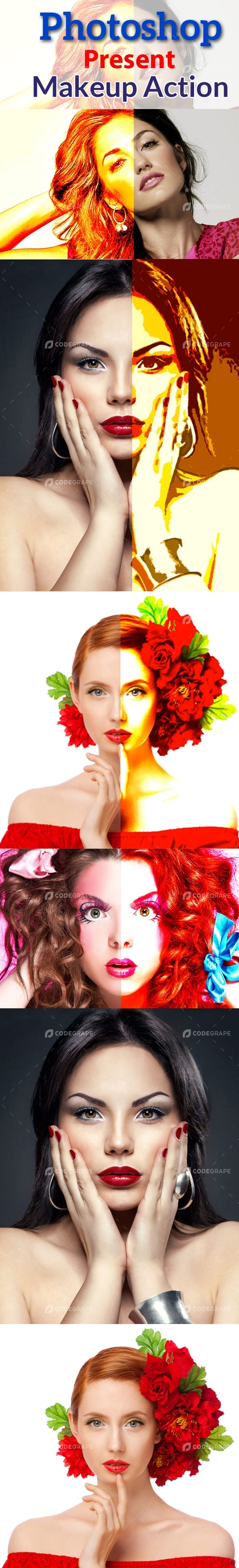 Photoshop Present Makeup Action