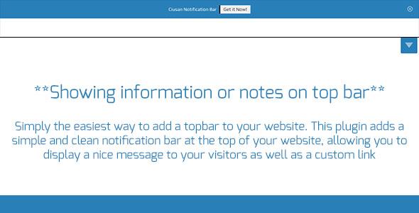 Ciusan Notification Bar