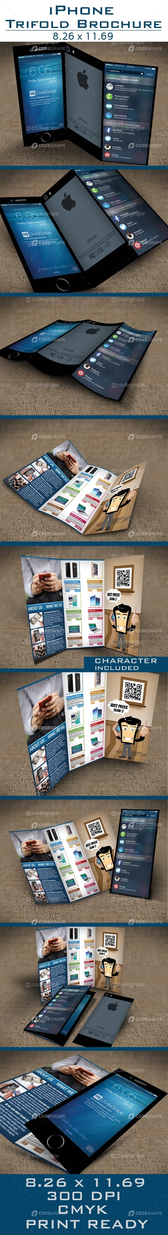 iPhone Tri-Fold Brochure