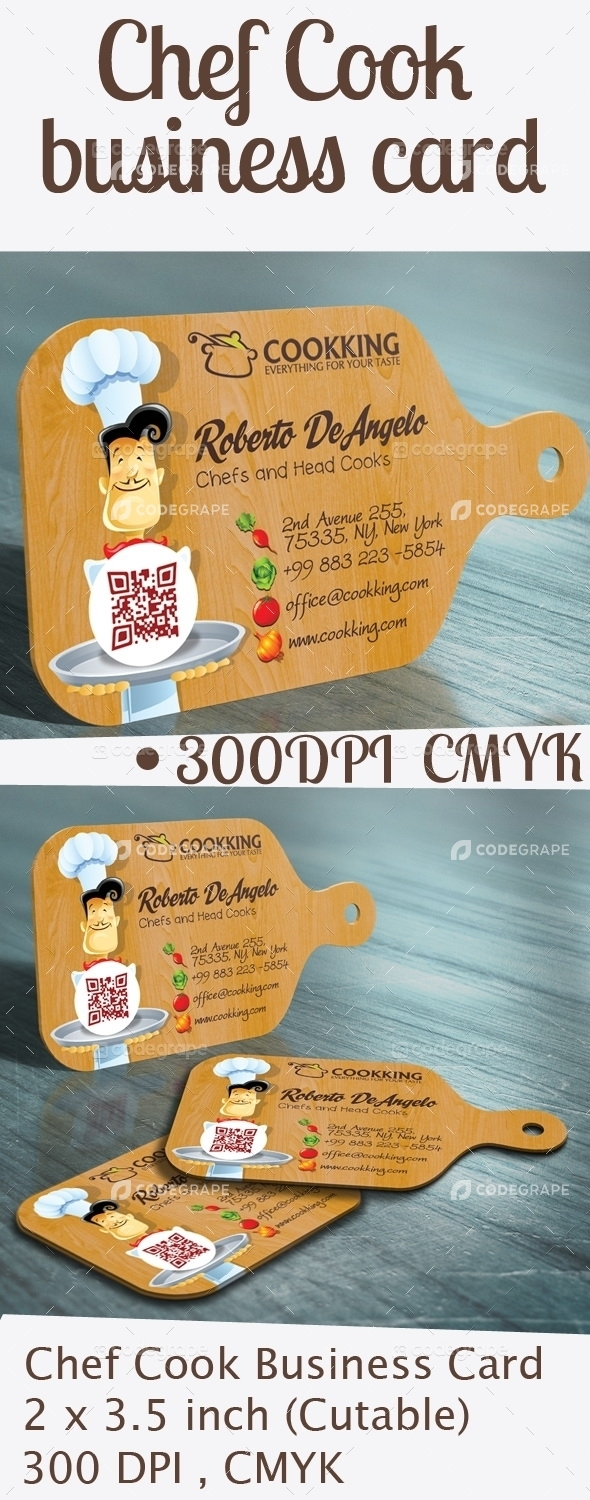 Chef Cook Business Card