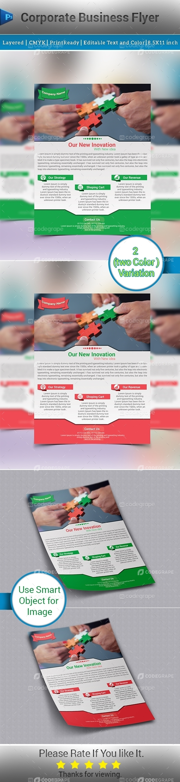 Corporate Business Flyer (2 Colors)