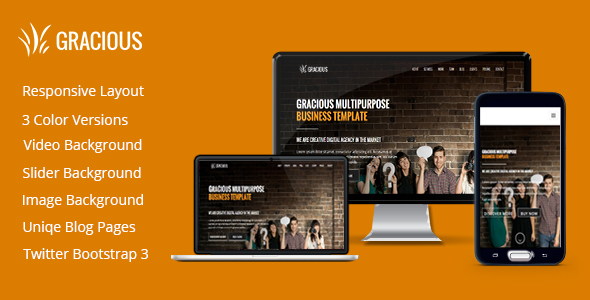 Gracious - One Page HTML5 Template