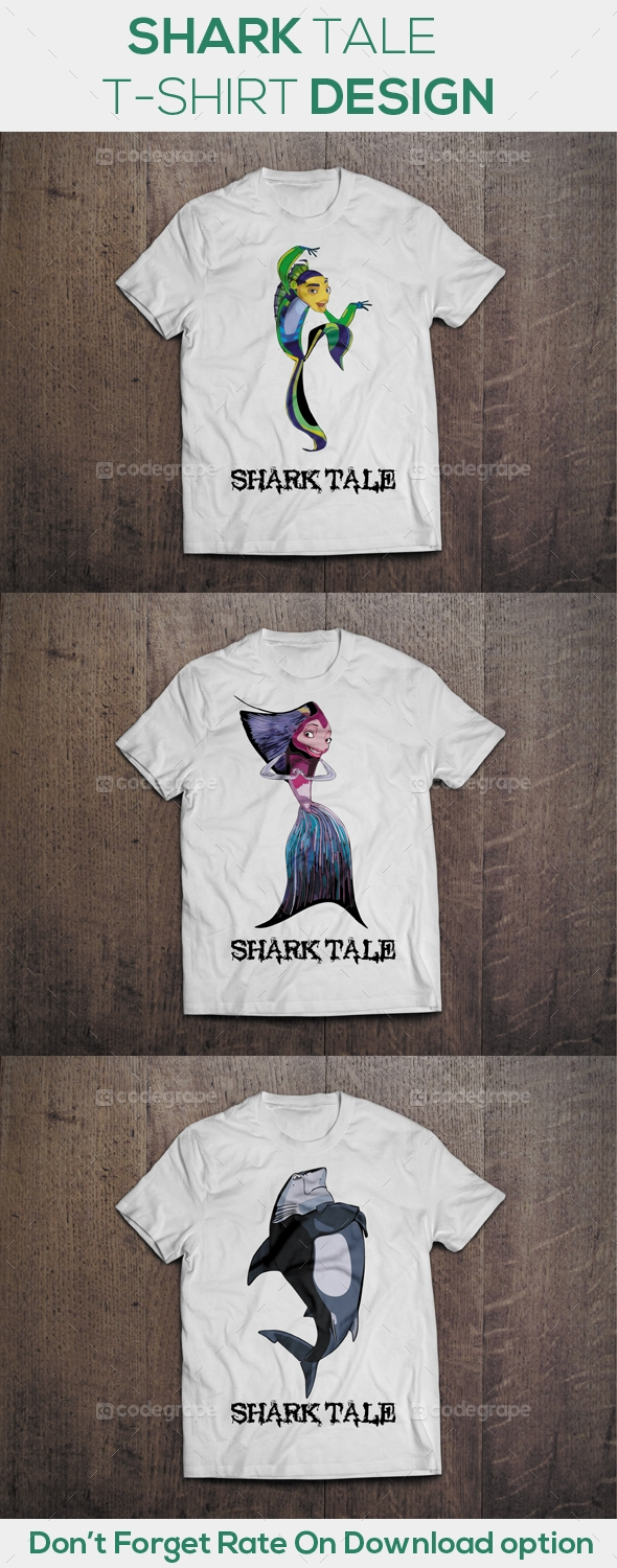 Shark Tale T-Shirt Design