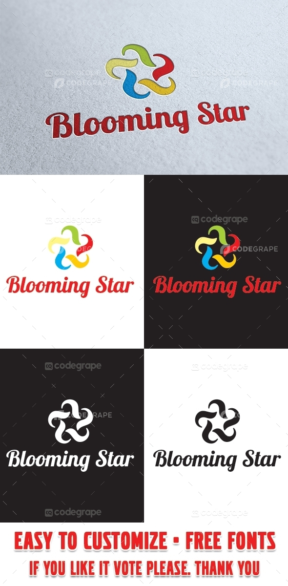 Blooming Star Logo Template