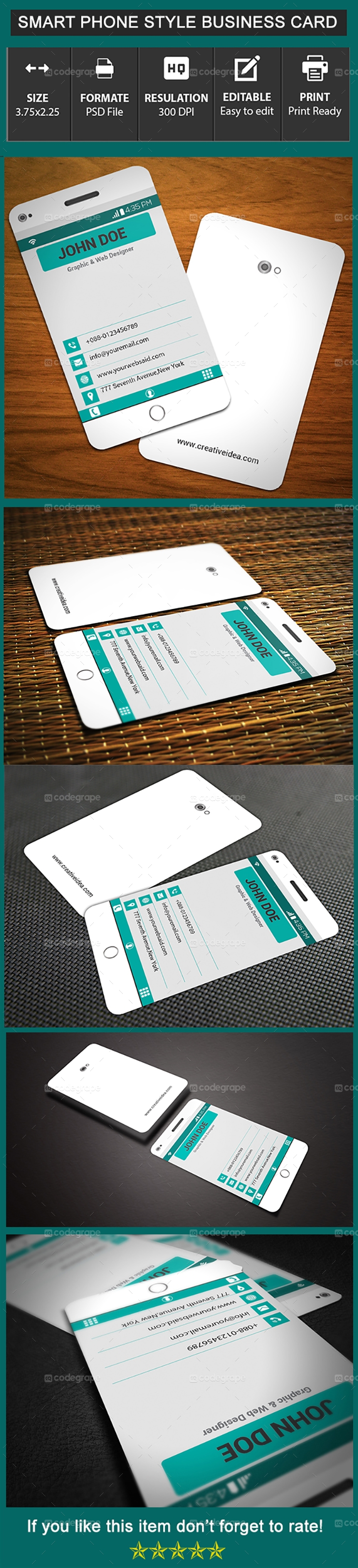 Phone Style Business Card