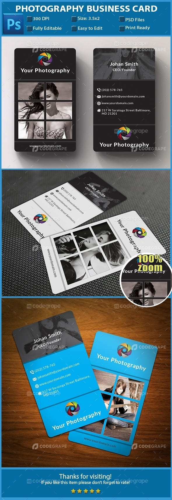 Phootography Business Card