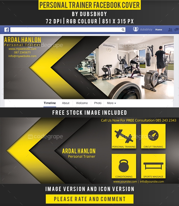 Personal Trainer Facebook Cover