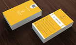 Yellow Corporate Business Card