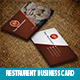 Restrurent Business Card