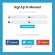 Flat User Interface Login Form