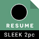 Sleek Resume Set
