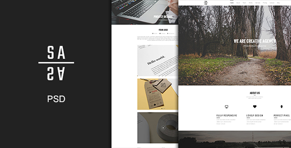 Sandy - One Page PSD Template