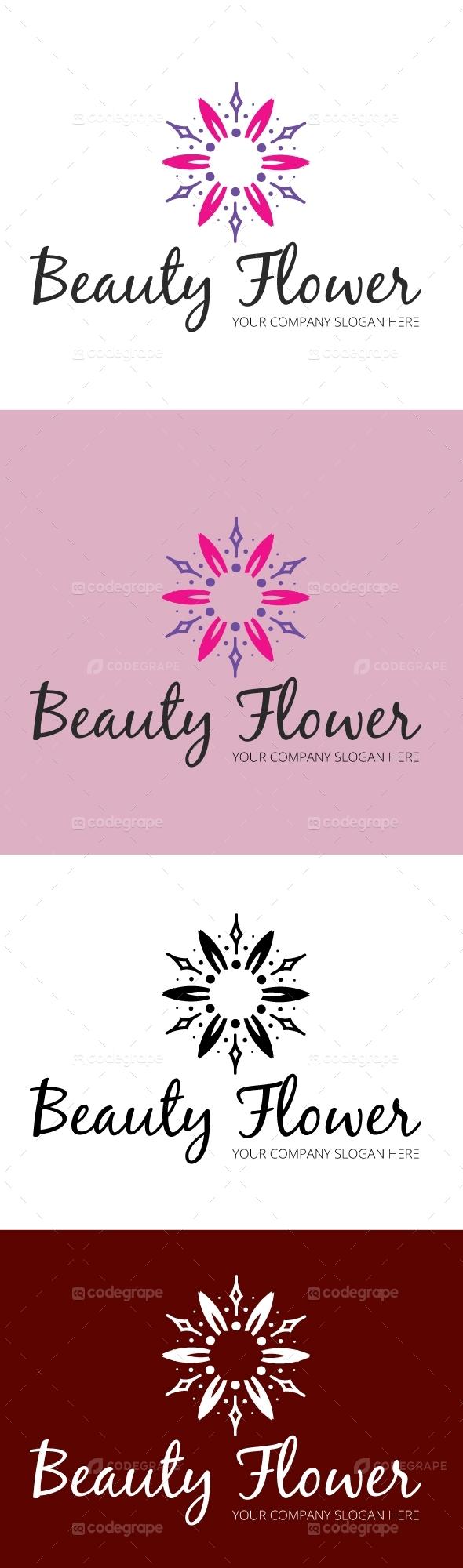 Beauty Flower Logo Template